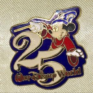 Walt Disney World 25th Anniversary Mickey Pin